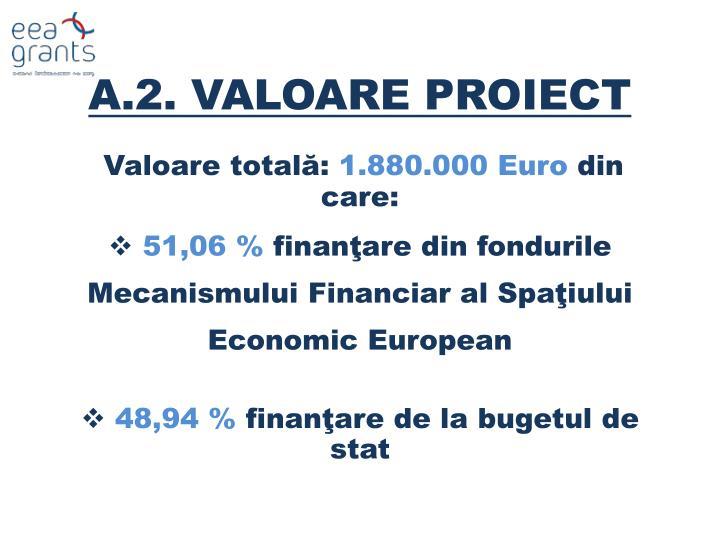A.2. VALOARE PROIECT
