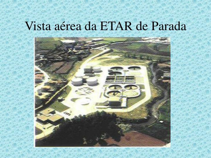 Vista aérea da ETAR de Parada