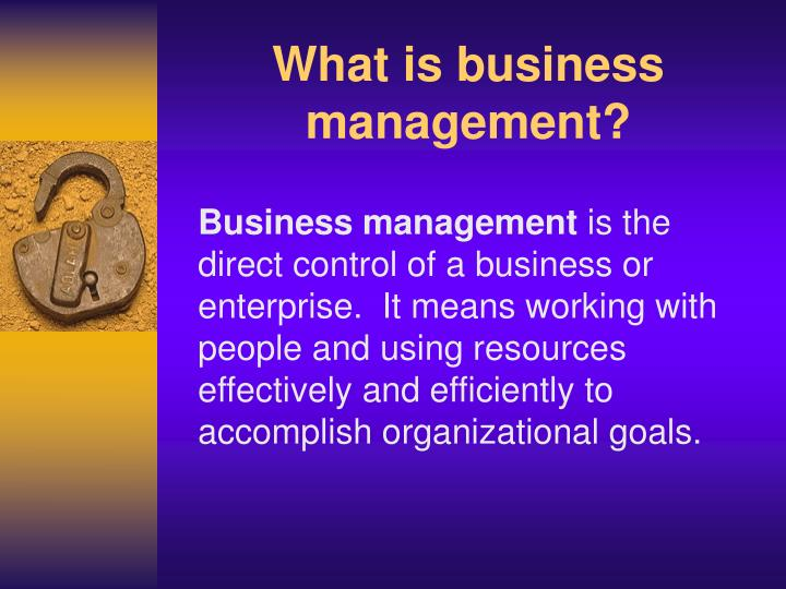 What is business management