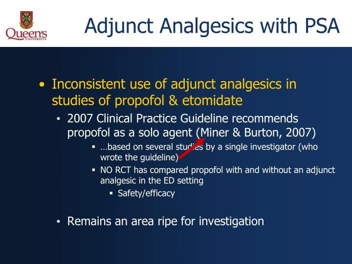 Adjunct Analgesics with PSA