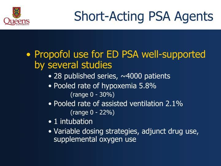 Short-Acting PSA Agents