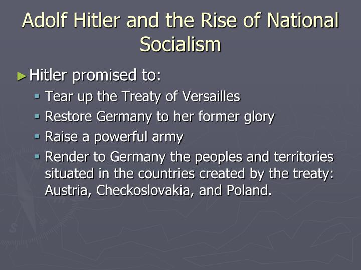 Adolf Hitler and the Rise of National
