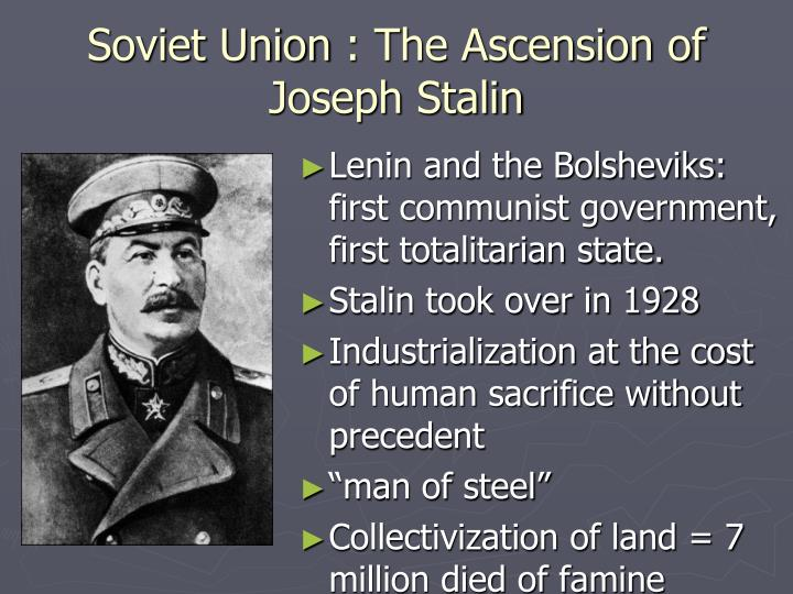 Soviet union the ascension of joseph stalin