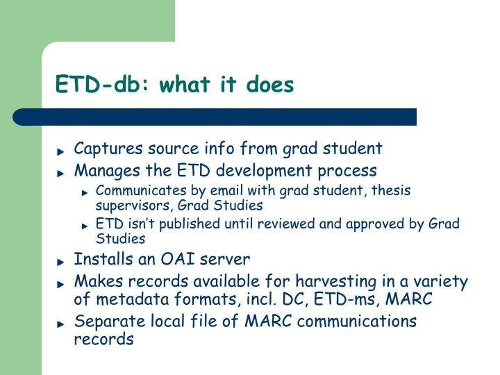 ETD-db: what it does