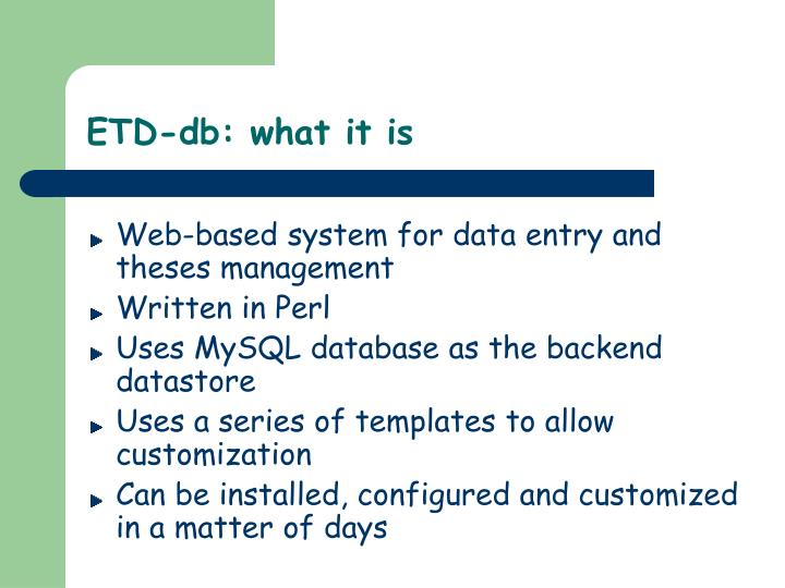 ETD-db: what it is
