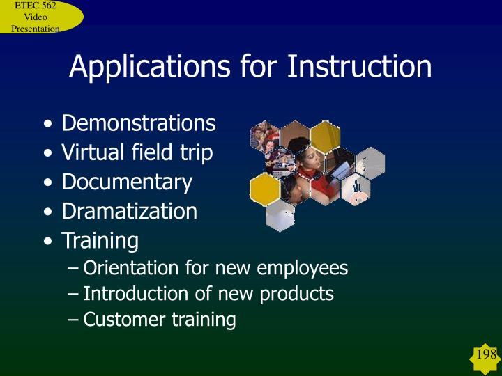 Applications for Instruction