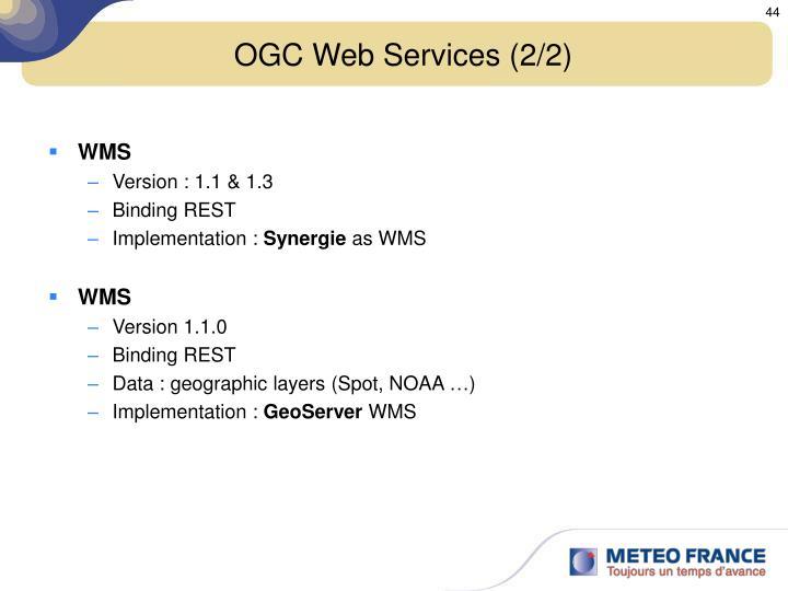 OGC Web Services (2/2)