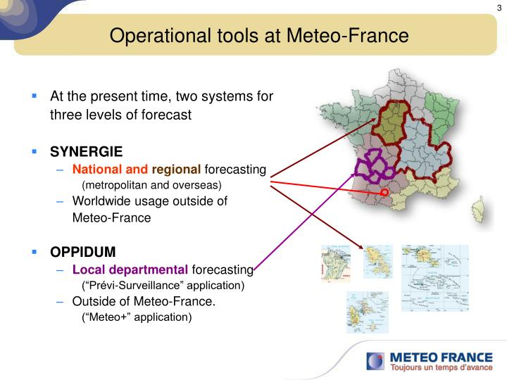 Operational tools at meteo france
