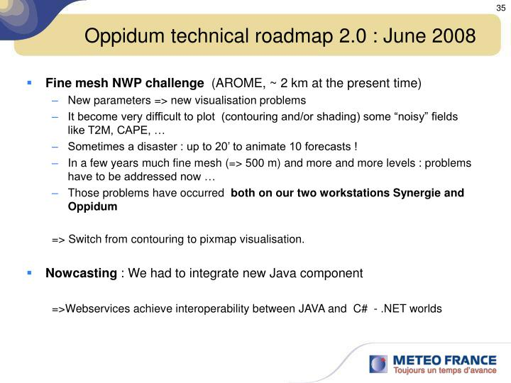 Oppidum technical roadmap 2.0 : June 2008