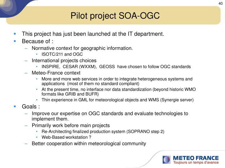 Pilot project SOA-OGC
