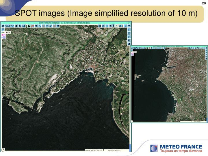 SPOT images (Image simplified resolution of 10 m)