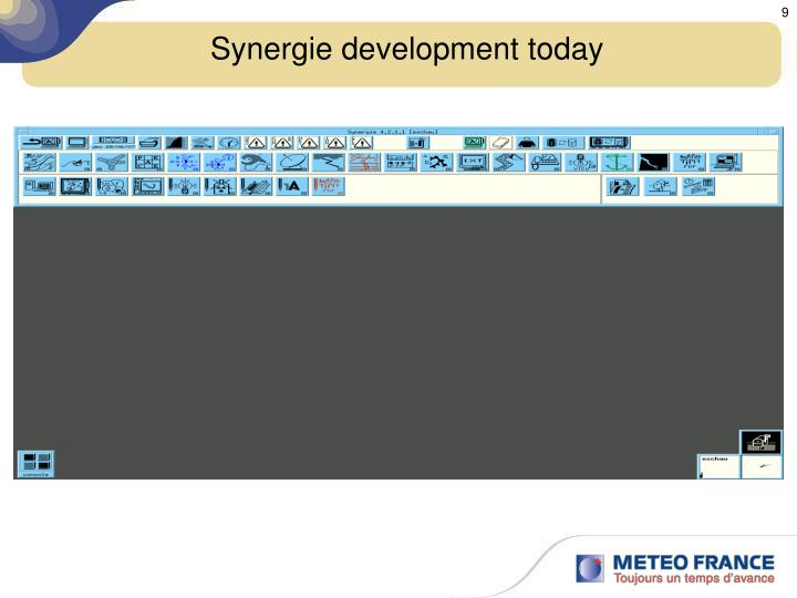 Synergie development today