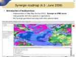 synergie roadmap 4 3 june 20081