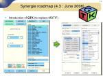 synergie roadmap 4 3 june 20082