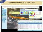 synergie roadmap 4 3 june 20085