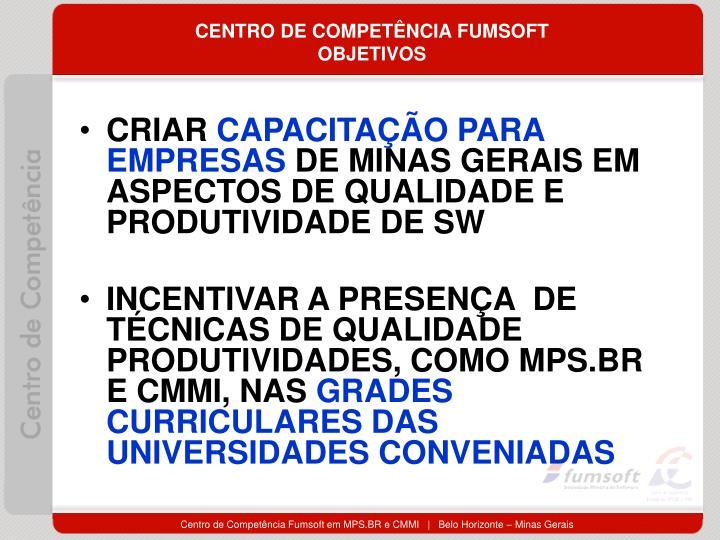 CENTRO DE COMPETÊNCIA FUMSOFT