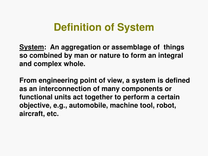 Definition of system