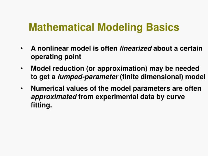 Mathematical Modeling Basics