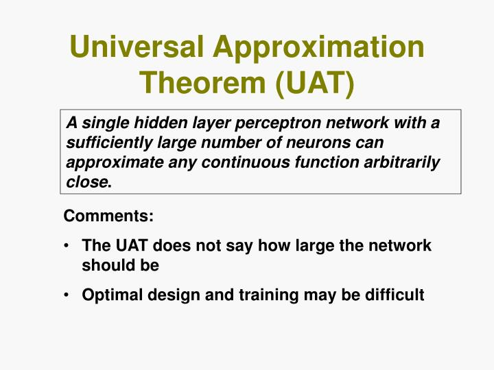 Universal Approximation Theorem (UAT)