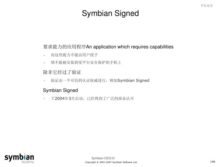 Symbian Signed