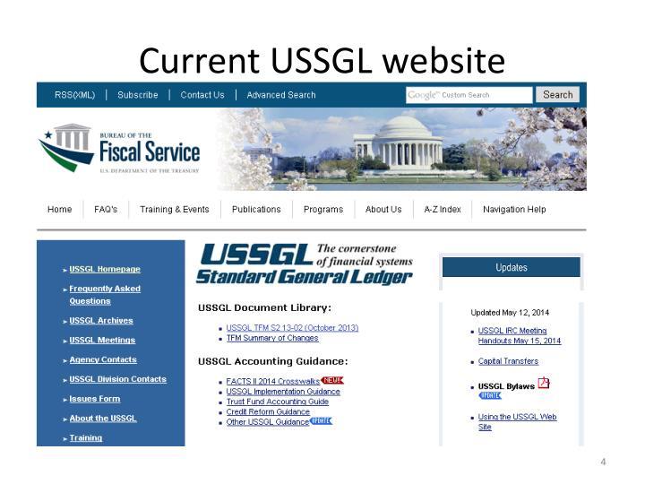 Current USSGL website