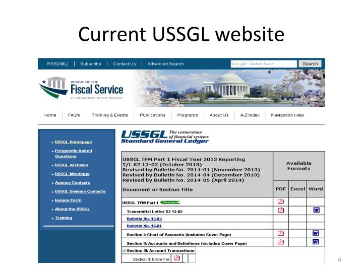 Current USSGL website