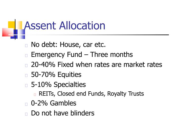 Assent Allocation