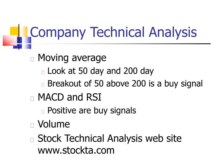 Company Technical Analysis