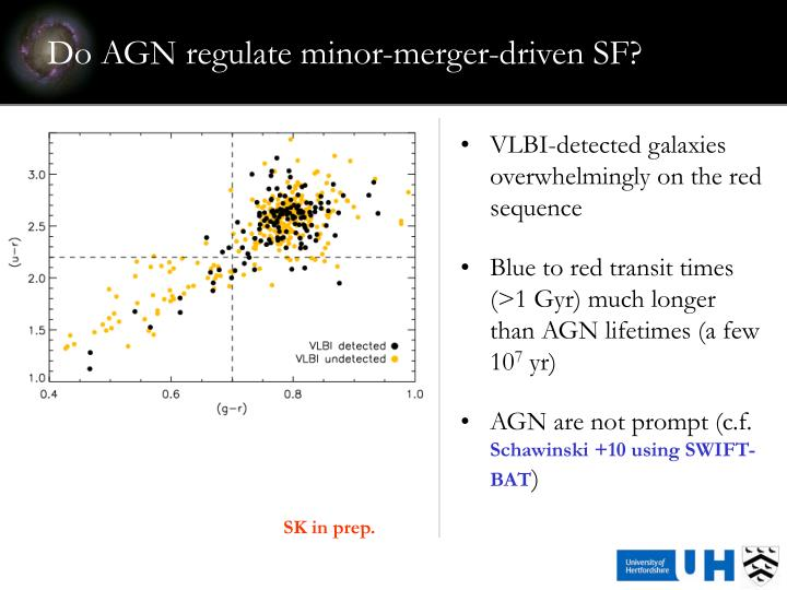 Do AGN regulate minor-merger-driven SF?