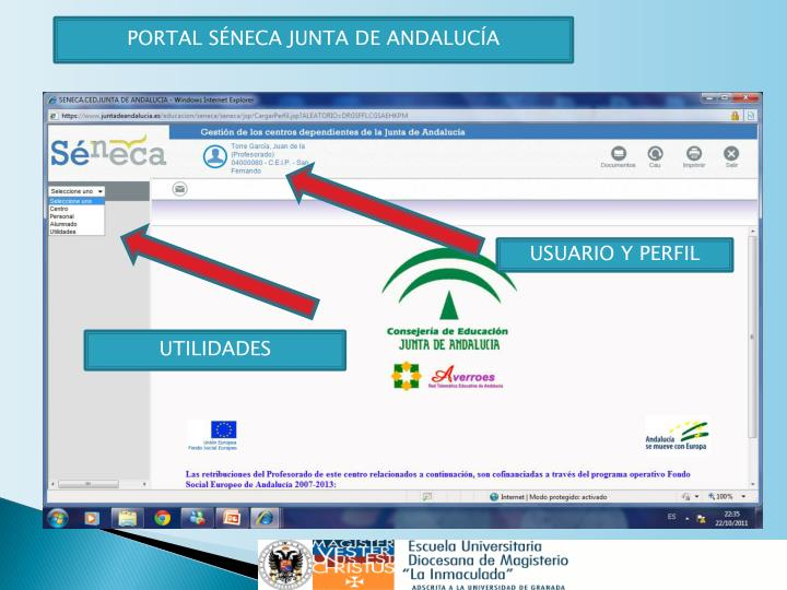 PORTAL SÉNECA JUNTA DE ANDALUCÍA