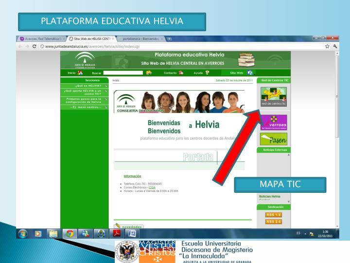 PLATAFORMA EDUCATIVA HELVIA
