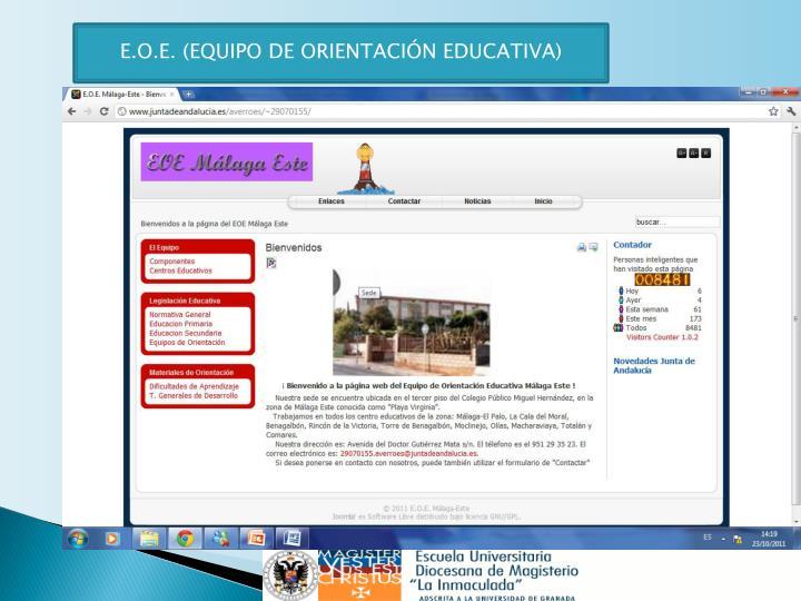 E.O.E. (EQUIPO DE ORIENTACIÓN EDUCATIVA)