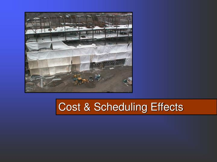 Cost & Scheduling Effects