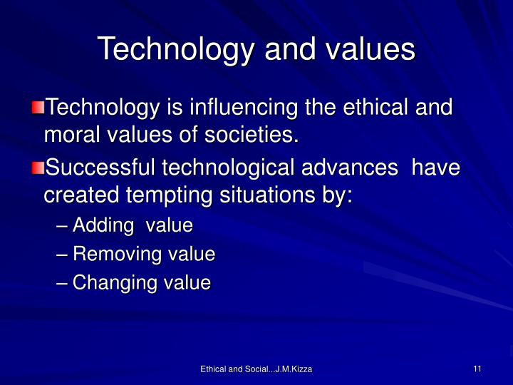 Technology and values