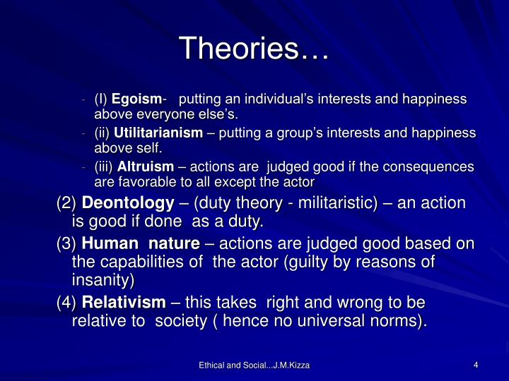 Theories…