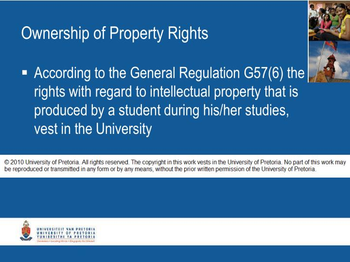 Ownership of Property Rights