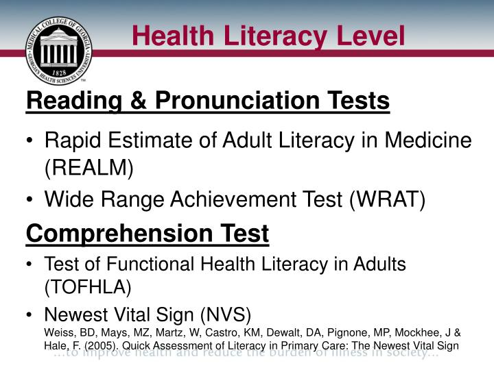 Health Literacy Level