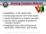 smoking cessation materials