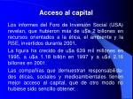 acceso al capital