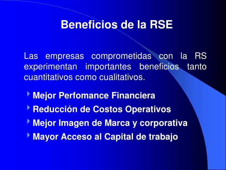 Beneficios de la RSE