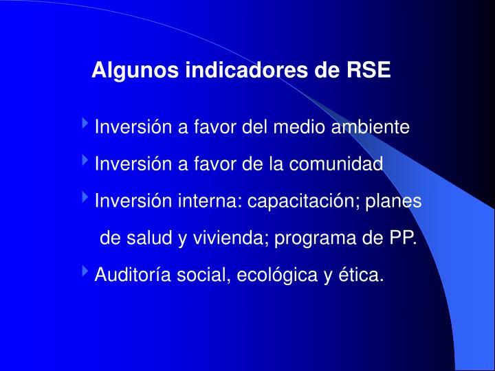 Algunos indicadores de RSE