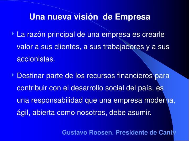 Una nueva visión  de Empresa