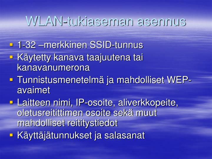 WLAN-tukiaseman asennus