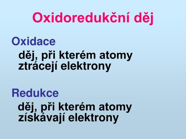 Oxidoredukční děj