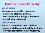 polarita chemick vazby
