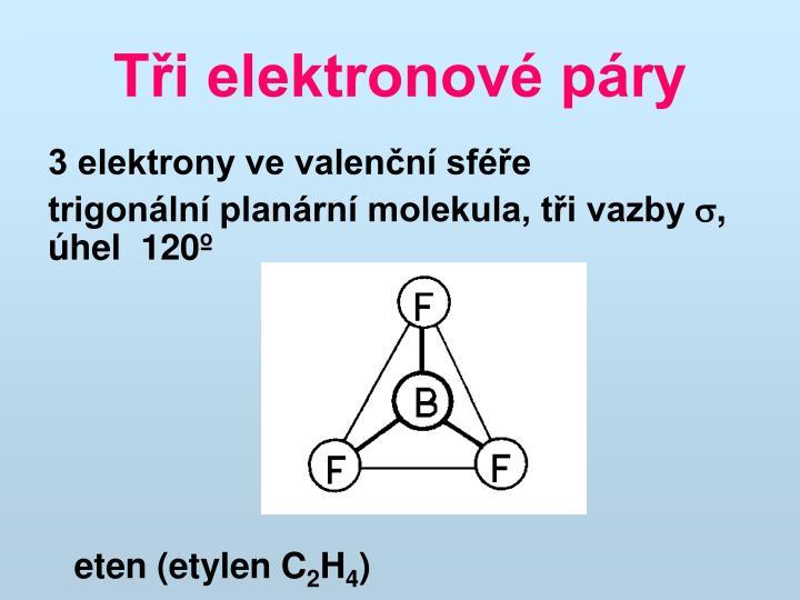 Tři elektronové páry