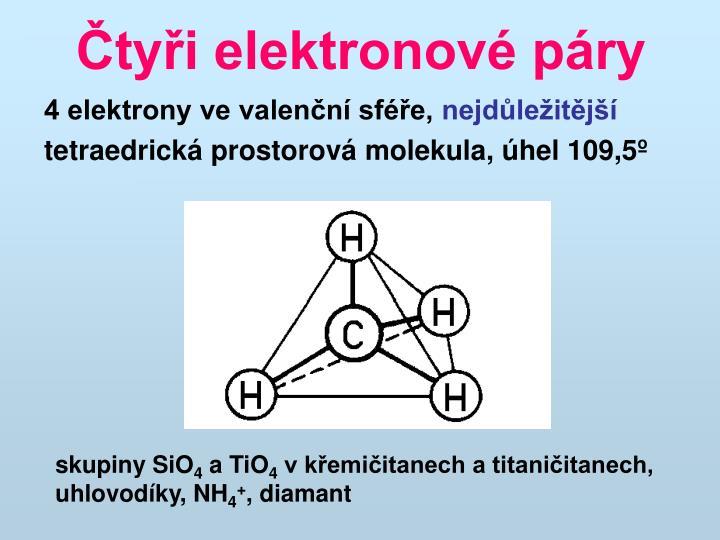 Čtyři elektronové páry