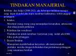 tindakan manajerial