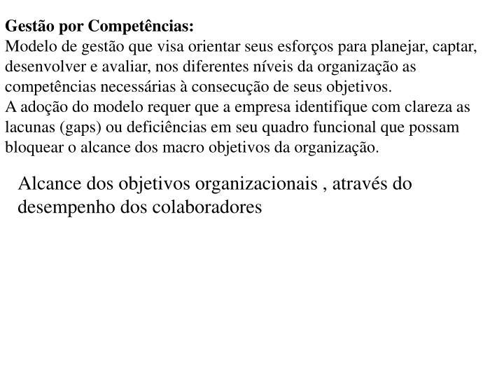 Gestão por Competências: