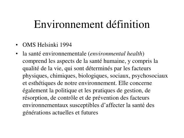 Environnement définition